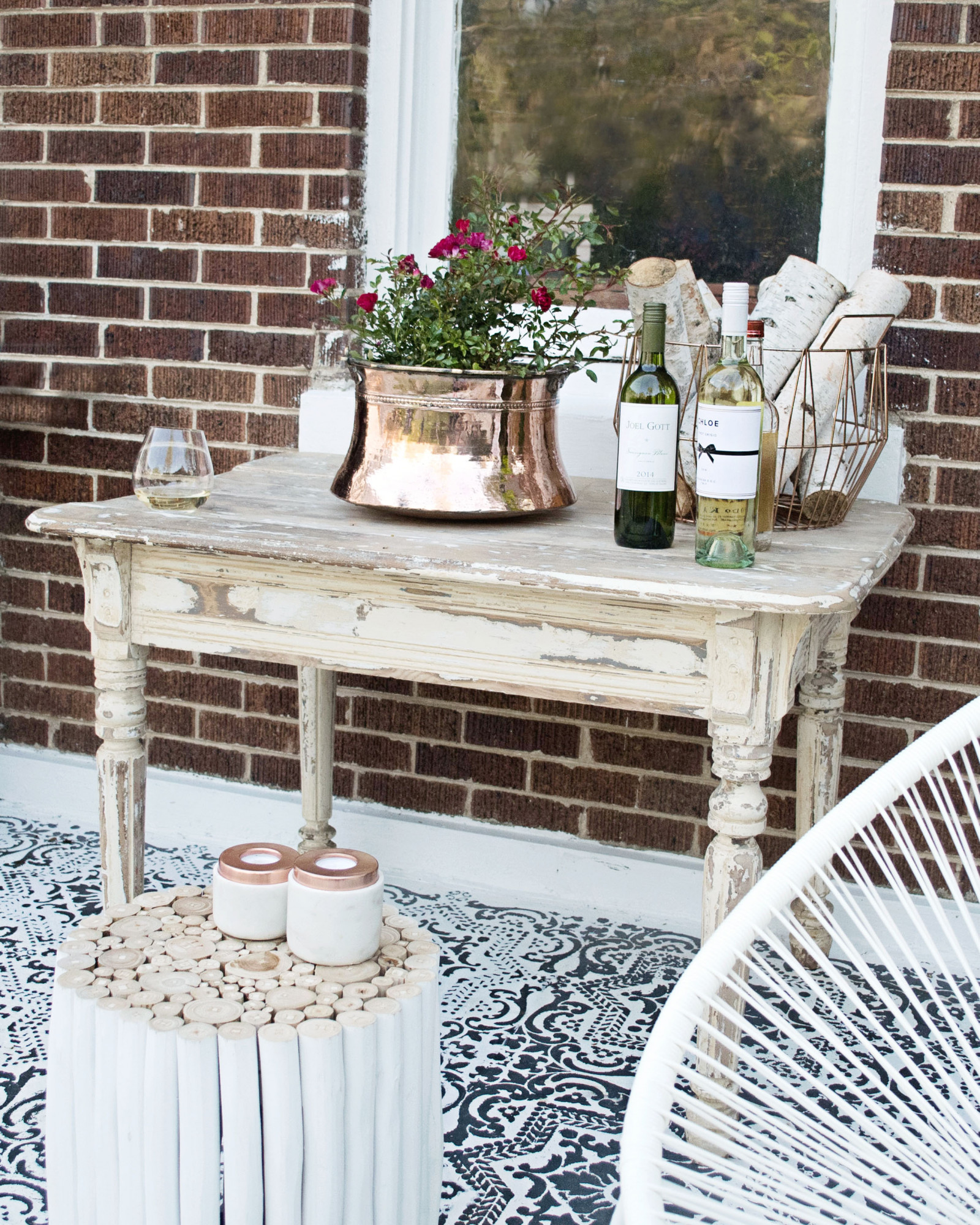 kindred vintage patio makeover